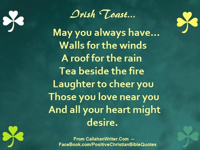 Delightful Irish Quotes. Irish_toast_walls_wind