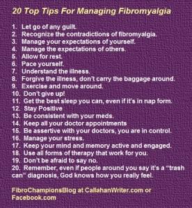20 tips managing fibro
